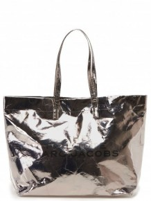 Marc Jacobs The Foil silver tote