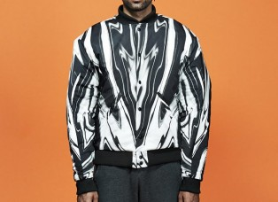 Print Pattern Baseball Jacket