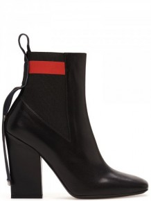 MSGM Black leather high heels boots