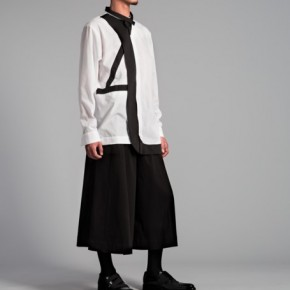 Multiple layers jacket in black and white