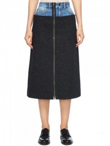 Maison Margiela Denim Waist A line skirt