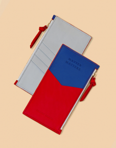 Red Blue Zipped Pouch