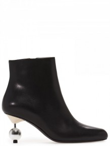 Marni Black leather Pearl boots
