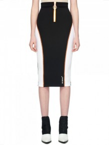 OFF WHITE black and white Pencil skirt