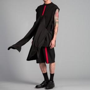 Black vest top with judo details