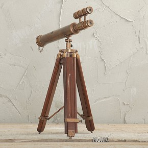 Copper telescope stand home decor