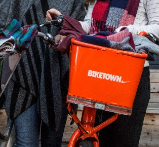 Nike biketown project fill the basket