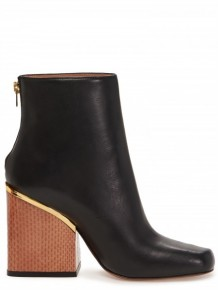 Marni Black leather metal boots