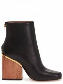 Marni Black leather metal boots