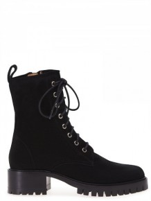 BARBARA BUI black lace up boots