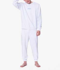 Mens white loungewear set