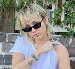 Miley Cyrus and her new Mullet haircut