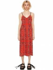 Alexander Wang banda print midi dress