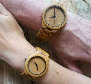 Handmade wooden watch eco friendly material