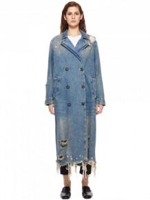 Alexander Wang oversized distressed denim coat