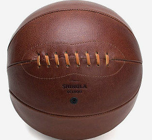 SHINOLA Leather sport design football and basketball