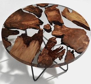 Earth Wood Resin Table by Renzo Matteo Piano
