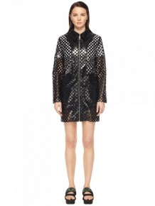 MCQ Alexander Mcqueen transparent coat zipped dress