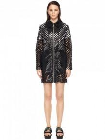 MCQ Alexander Mcqueen transparent coat zipped dress