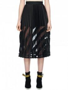 OFF WHITE Black Mid Pleated skirt