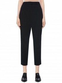 BARBARA BUI black slim-fit tailored trousers