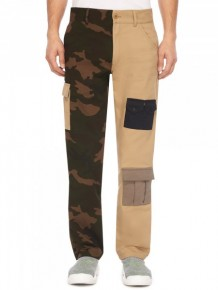 Gosha Rubchinskiy bi-colour cargo trousers