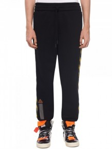 OFF WHITE logo tape sweatpants