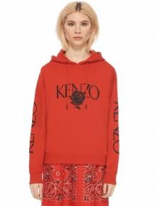 Kenzo Embroidered Logo & Rose hoodie