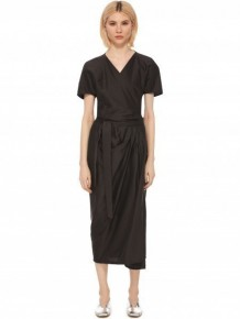Rick Owens Belted V-neck long dress
