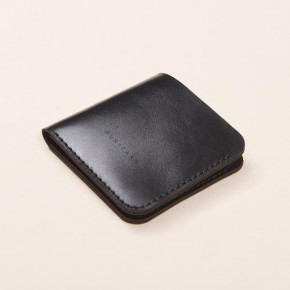 Black leather wallet anthracite