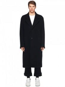 Maison Margiela Black Wool Long Coat