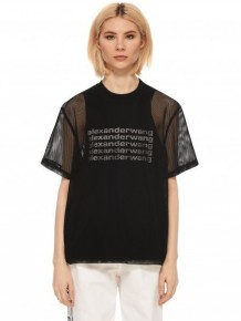 Alexander Wang mesh logo T-shirt