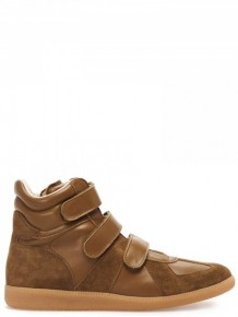 Maison Margiela Brown High Top Sneakers