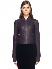 Rick Owens Purple Leather Jacket