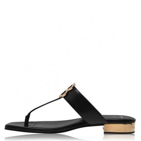 BALMAIN Black and Gold finishing SOFIA SANDALS
