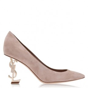 SAINT LAURENT OPYUM SUEDE COURT HEELS