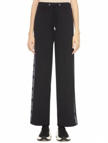 KENZO black logo stripe track pants
