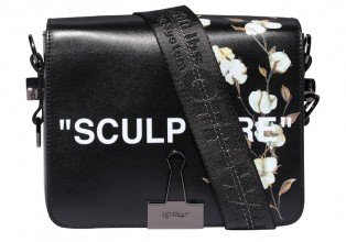 Off White COTTON FLOWER BINDER CLIP Bags
