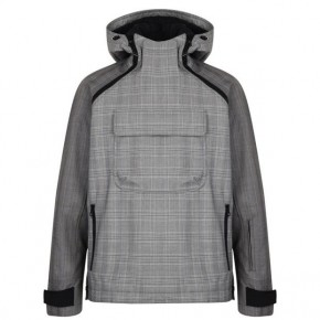 LANVIN CHECKED PULL OVER JACKET