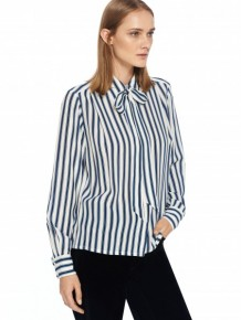 Marc Jacobs striped bow blouse