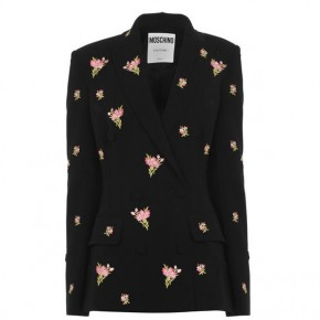 MOSCHINO BOUQUET JACKET IN FLORAL PATTERN