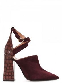 Pollini crocodile effect platform sandals
