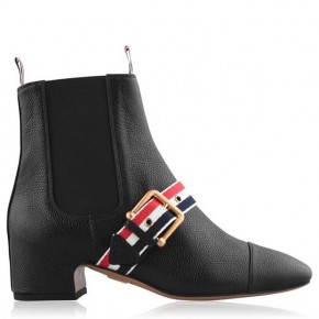 THOM BROWNE STRAP HEEL BOOTS
