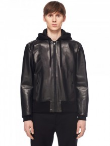 Marc Jacobs leather hoodie jacket