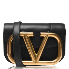 VALENTINO SMALL SUPERVEE CALFSKIN CROSSBODY BAG