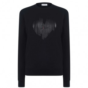 SAINT LAURENT LOGO HEART Sweater