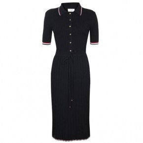THOM BROWNE Polo Pique Midi Dress