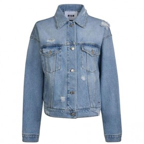 MSGM LOGO DENIM JACKET