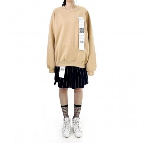 Y3NOLOGY Unisex Oversized Sweatshirt In Beige