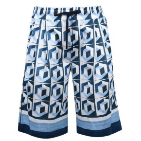 DOLCE AND GABBANA PRINT SHORTS SKY BLUE